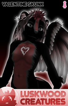 Luskwood Valentine Skunk Furry Avatar - Female