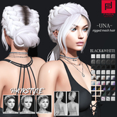 -FABIA- Mesh Hair   < Una> Black&White