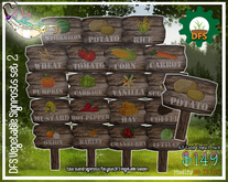 ::Whymsikal:: - DFS - Vege/Seed Plot Signs Set 2