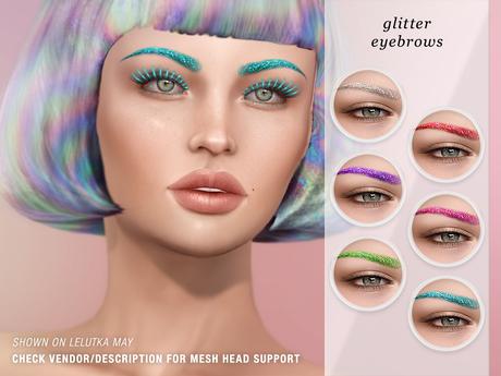"""alaskametro<3 """"Glitter"""" eyebrows - CATWA applier HUD"""