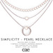 Cae :: Simplicity - Pearls :: Necklace [bagged]
