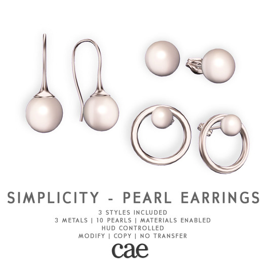 Cae :: Simplicity - Pearls :: Earrings [bagged]
