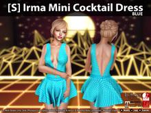 [S] Irma Mini Cocktail Dress Blue