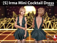[S] Irma Mini Cocktail Dress Stripes