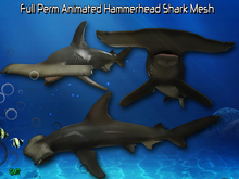 Full Perm Amazing Animated  hammerhead Shark High Quality Mesh