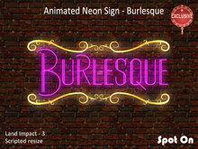 *SO* Animated Neon Sign - Burlesque VF2018