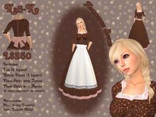 KaliKo Homespun Brown Prairie Dress