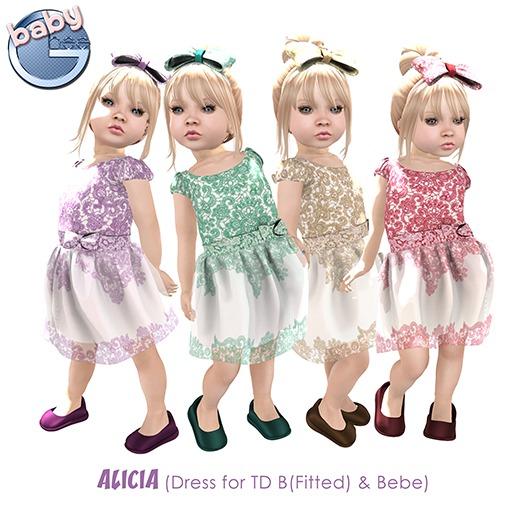 Baby Ghee - Alicia Dress Lavander - BAG (add to unpack)