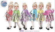 Baby Ghee - Sophia Dress Turquoise - BAG (add to unpack)