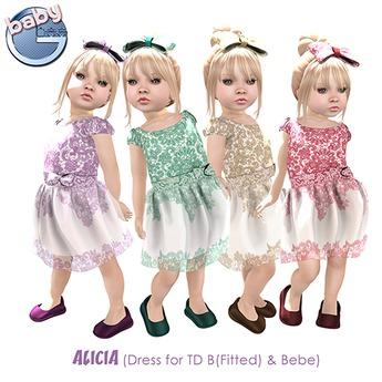 Baby Ghee - Alicia Dress FATBACK + BONUS - BAG (add to unpack)