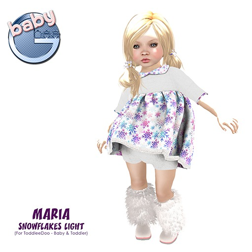 Baby Ghee - Maria Snowflakes Light - BAG (add to unpack)