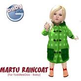 Baby Ghee - Martu Raincoat - B - green BAG (add to unpack)