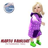 Baby Ghee - Martu Raincoat - B - purple BAG (add to unpack)