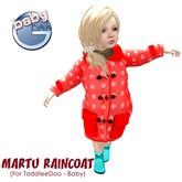 Baby Ghee - Martu Raincoat - B - red BAG (add to unpack)