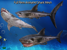 Full Perm Amazing Animated  Shark HQ Mesh