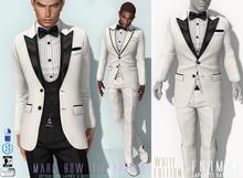 L&B - Tuxedo - Bow Tie - Marc - White Fatpack