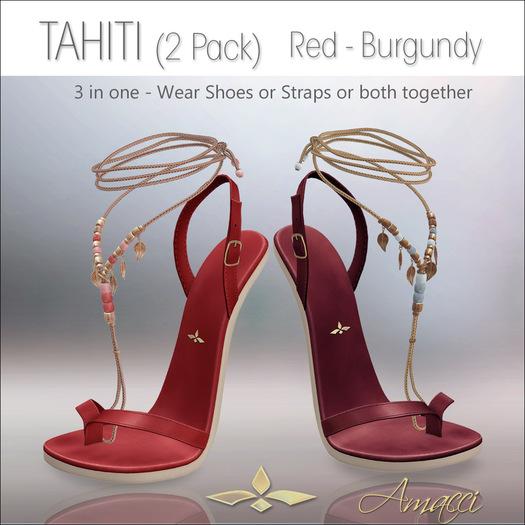 Amacci Shoes - Tahiti - Red/Burgundy
