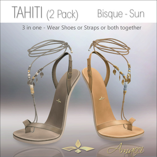 Amacci Shoes - Tahiti - Bisque/Sun