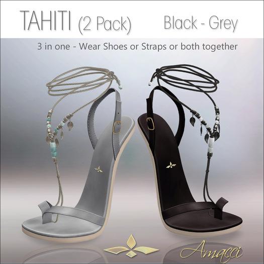 Amacci Shoes - Tahiti - Black/Grey