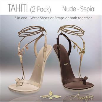 Amacci Shoes - Tahiti - Nude/Sepia