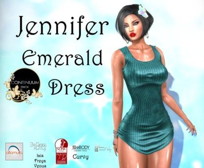 Continuum Jennifer Emerald Dress