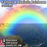 Fantasy & Realistic Rainbows with wave