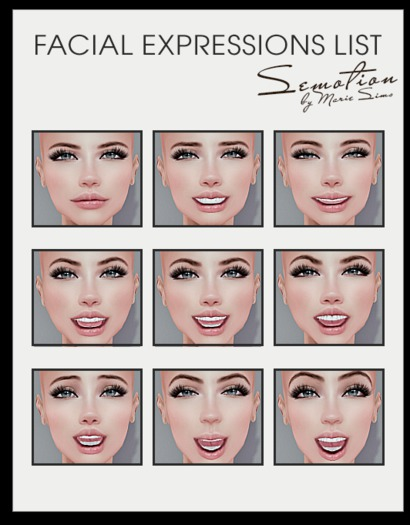 SEmotion Female Bento Facial Amused Expressions HUD