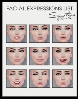 SEmotion Female Bento Facial Flirty Expressions HUD