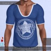 Nero - Roman V-Shirt - Blue Rockstar