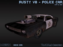 **To(kk)en Industries** Rusty V8 Police Car