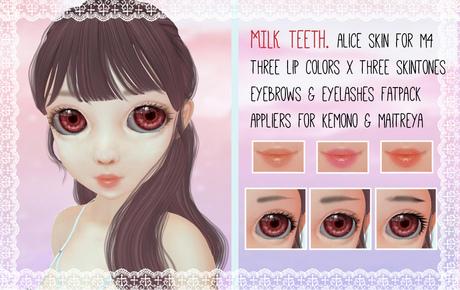 milk teeth. ALICE Skin Pack for M4 Anime Head, Kemono & Maitreya * FATPACK!