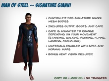Man of Steel Outfit – Signature Gianni Mesh Bodies