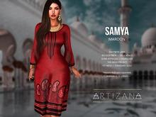 Artizana - Samya (Maroon) - Mesh Tunic Dress