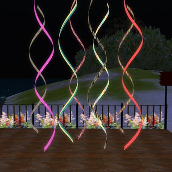 8 Colored Streamers (Transfer)