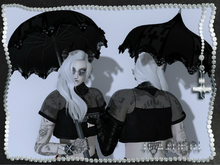 +FATHER+ - Cross Parasol - Black Bows