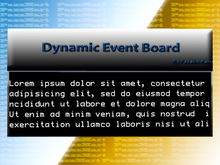 Dynamic Event Board 2.1 (Copy Version)
