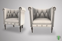 ~GD~ Madison Tufted Club Chair - White - ADULT