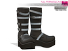 Dae, Obj, FBX, And Texture Files For Black Mid Calf Platform Boots With Rivets