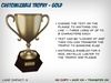 Customizable Trophy - Gold