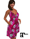 XK Maitreya Tropical Beach Party Floral Pink Dress