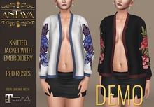 :: ANTAYA :: Knitted jacket with embroidery - DEMO \ Maitreya body \ Original mesh