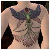 *VLC* Scarab Back Tattoo