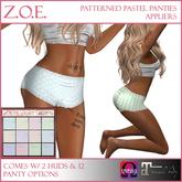 Z.O.E. Patterned Pastel Panties Appliers