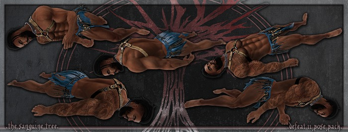 [ t.s.t ] Defeat II Pose Pack [ WEAR & CLICK ]