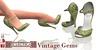 Eclectica Vintage Gem Shoes - olive