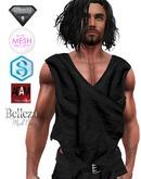 XK Sleeveless Wrap Shirt Black