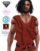 XK Sleeveless Wrap Shirt Dark Red