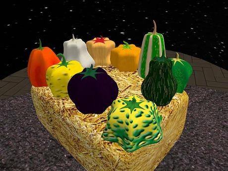 Set of 10 Decoration Pumpkins