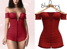 Blueberry - Danni - Corset Dress - Red