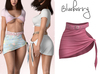 Blueberry - Leah - Side Ties Skirts - Pink
